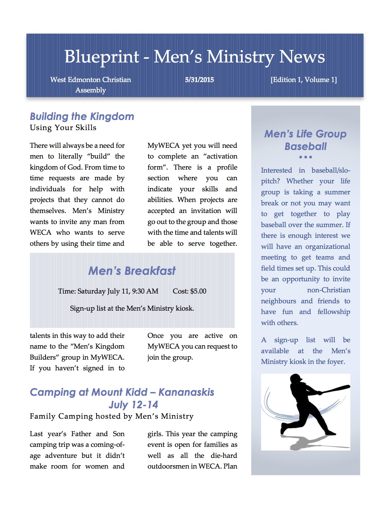 Mens events west edmonton christian assembly blueprint newsletter blueprint newsletter2 malvernweather Images